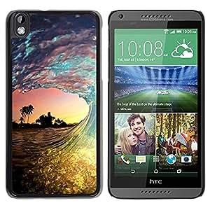 Design for Girls Plastic Cover Case FOR HTC DESIRE 816 Surf Sun Sea Palms Summer OBBA