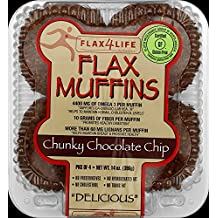 FLAX4LIFE FZ Chocolate Chip Muffin, 14 Ounce (Pack of 6)