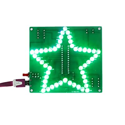 Icstation Star Shape Colorful LED Flashing Light Assemble Kit DIY Electronics Soldering Practice Set: Industrial & Scientific