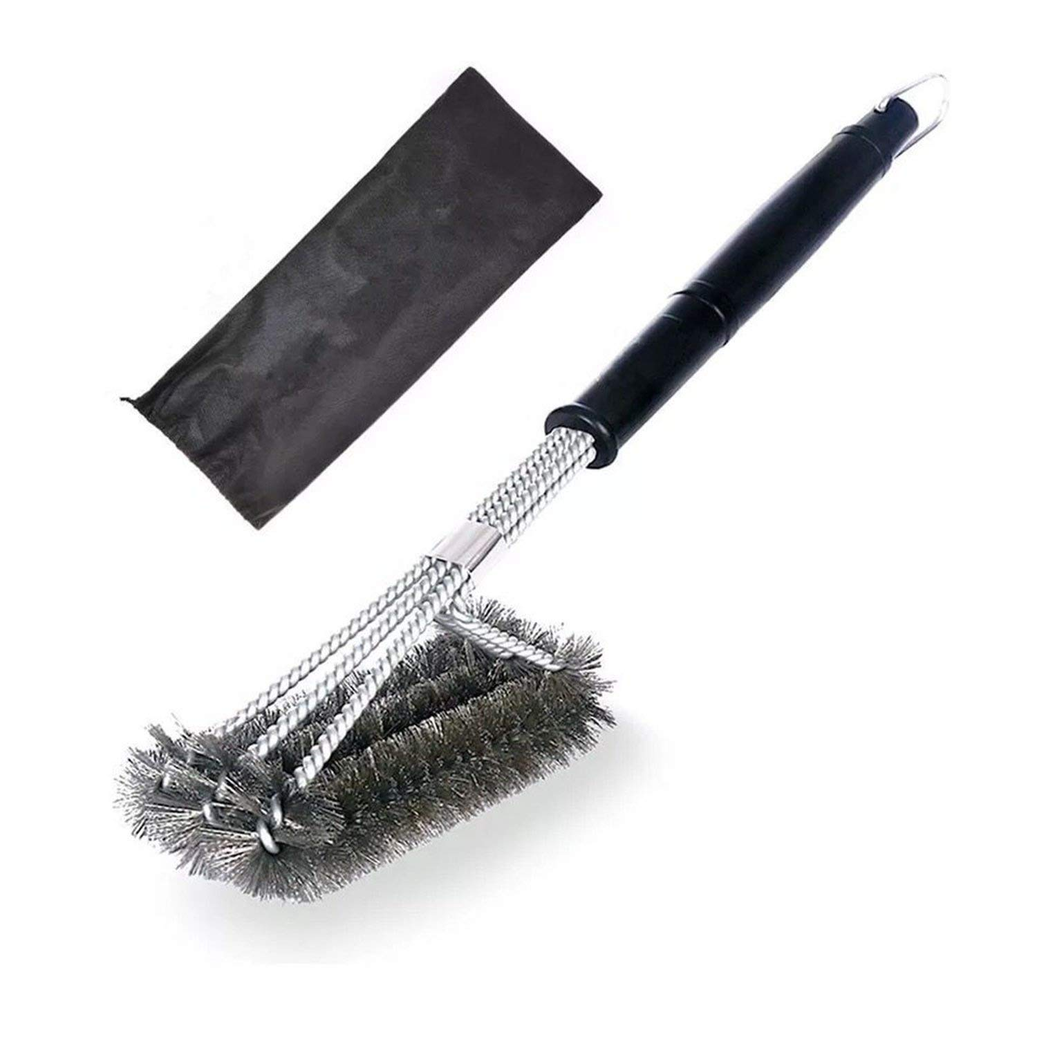 ahere Grill Brush BBQ,18'' BBQ Grill Cleaning Brush - Stainless Steel Wire Bristles 3-in-1 Cleaning Bruhes Provides Effortless Cleaning.009