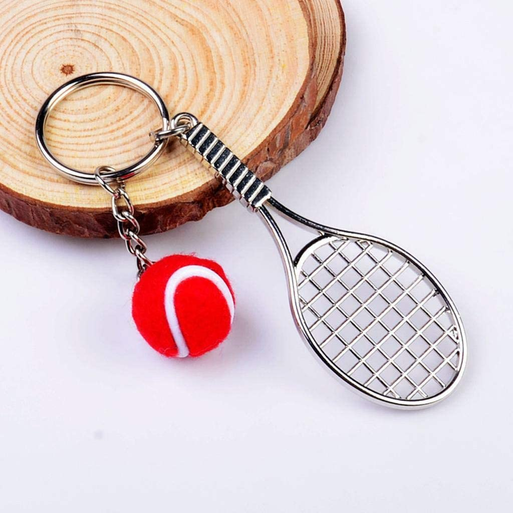 Tennis Racket /& Tennis Ball  Keyring Key Chain Novelty Sports Gift