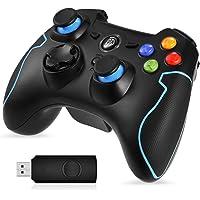 [Manette PS3 PC sans Fil] EasySMX Manette PC sans Fil, Connectée avec USB, Manette PS3 avec Dual Shock, Compatible pour PC Windows XP/Vista, Windows 7/8/8.1/10, PS3, Android(Via OTG)-(Noir+Bleu)