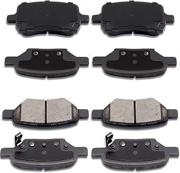 Front Metallic Brake Pad Set For 04-07 2008 2009 2010 2011 2012 Chevrolet Malibu