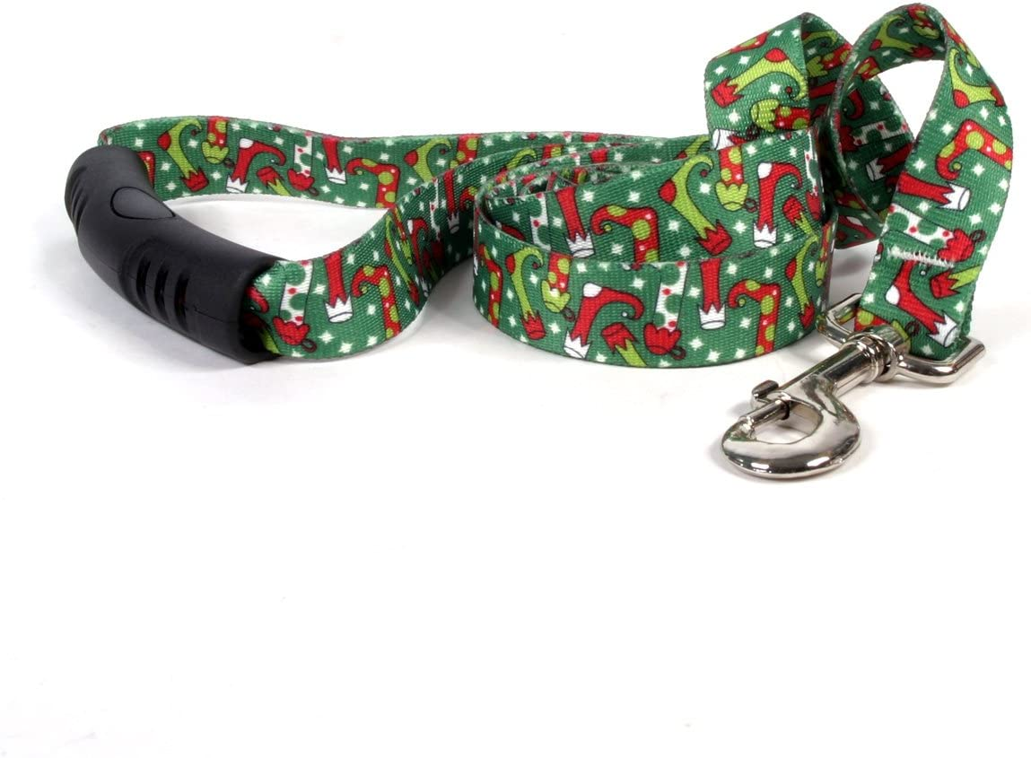 Yellow Dog Design Christmas Stockings EZ-Grip Dog Leash with Comfort Handle, Small/Medium