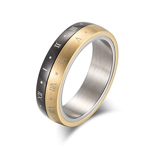 Amazon.com: Excow Jewelry - Anillo de acero inoxidable con ...