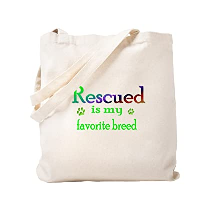 f4bc9e4a08df Amazon.com  CafePress - Rescued Is My Favorite Breed - Natural ...