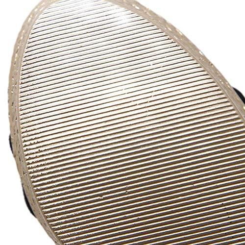 Solo Sandalias Con Antideslizantes Tacón Un Botón Abierta Impermeables Damas Zapatos De Alto Plataforma Punta Black t0qx5wzO