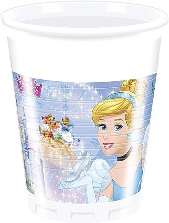 200/ml /Vasos Pl/ástico Disney Princess Cenicienta Procos 85687/ azul 8/piezas