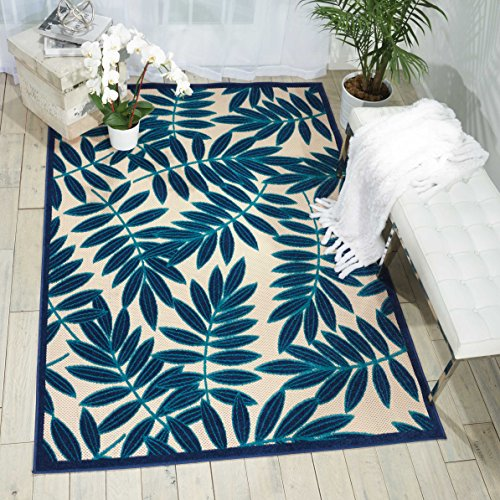 """Nourison Aloha ALH18 Navy Indoor/Outdoor Area Rug 9 Feet 6 Inches by 13 Feet, 9'6""""X 13' from Nourison"""