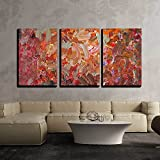 wall26 - 3 Piece Canvas Wall Art - Analog Painted Background Texture - Brushstrokes - Modern Home Decor Stretched and Framed Ready to Hang - 16''x24''x3 Panels