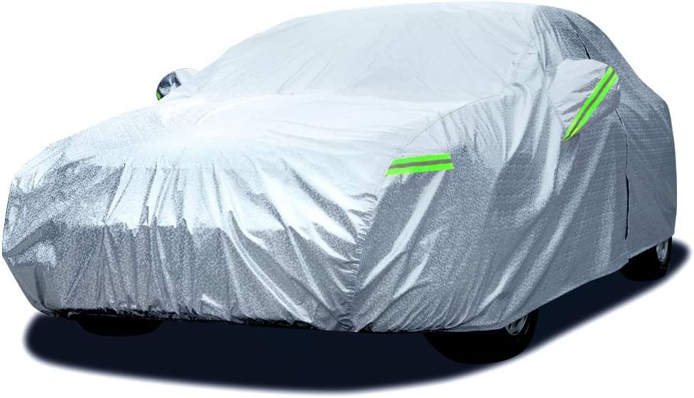 Heavy Duty Waterproof Car Cover UV Sun Dust Protection Breathable Small S Grey