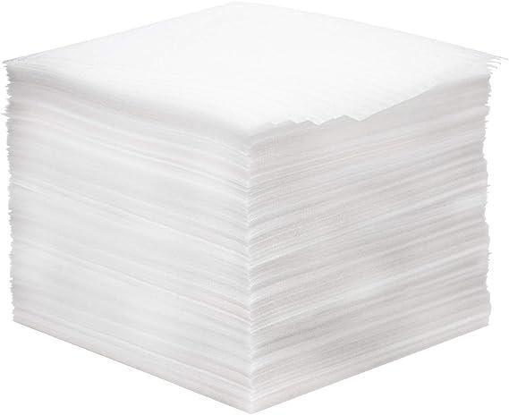305 x 305 x 1mm Zuschnitte EPE Schaumstoffplatte Verpackungsmaterial Umzug Packschaum f/ür Geschirr Porzellan Gl/äser Weinflaschen N//A 50PCS Schaumstoffverpackung 1mm Schaumfolie Verpackung