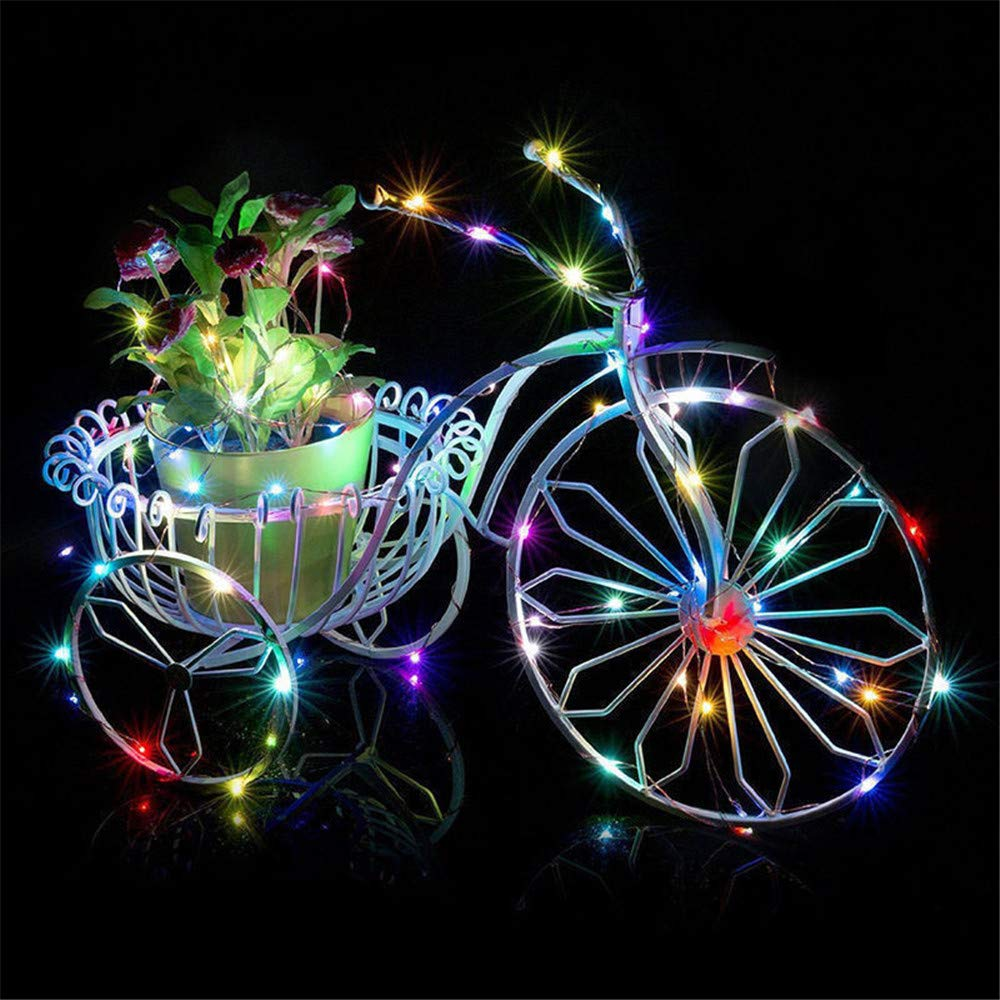 SUNBIBEWine Bottle String Lights with Cork - 1M 10 LED / 2M 20 LED / 3M 30 LED Bottle Lights Battery Powered Xmas Colorful String Lights for Romantic Party Wedding Christmas (Multicolor, 2M 20 LED)