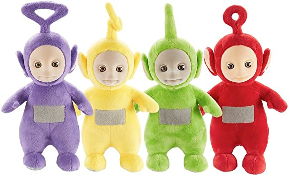 Set of 4 Teletubbies 26cm Talking Po & Laa-Laa & Dipsy & Tinky ...