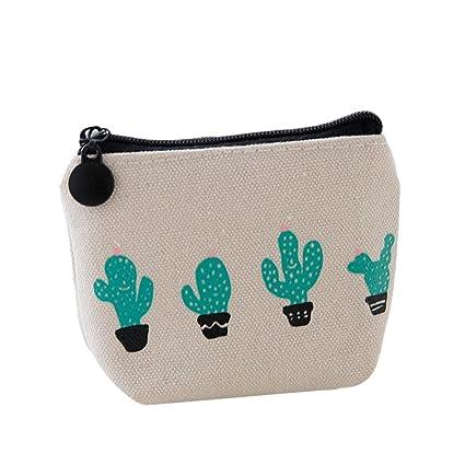 b7ea68449 weimay lienzo bolso de mano cartera clave bolsa de monedero funda con cierre  de cremallera para
