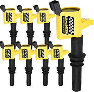 Motovecor Ignition Coil Pack DG511 Straight Boot 15% More High Energy for Ford F150 F-150 F250 Expedition Explorer Mustang Lincoln Mercury 5.4L 4.6L 6.8L V8 V10 with DG511 C1541 FD508 - Upgrade 8Pack