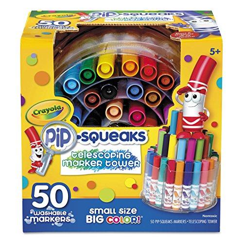 Crayola 588750 Pip-Squeaks Telescoping Marker Tower, Assorte