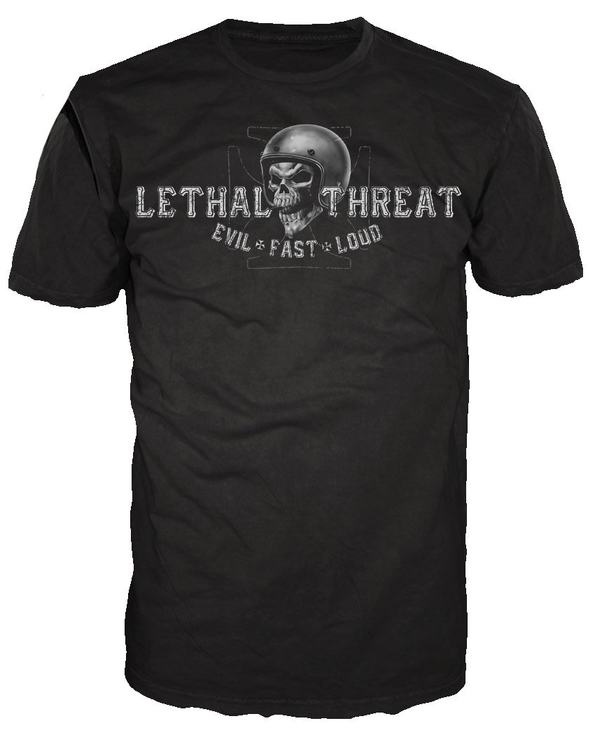Lethal Threat (LT20249L) Men's LT Skull Crew T-Shirt (Black, Large)