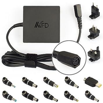 KFD 90W Adaptador Cargador Universal para portátil de 19V 19,5V 20V 18,5V 4,5A 4,74A notebooks y laptops Toshiba, IBM/Lenovo, Liteon, Fujitsu, Dell, ...