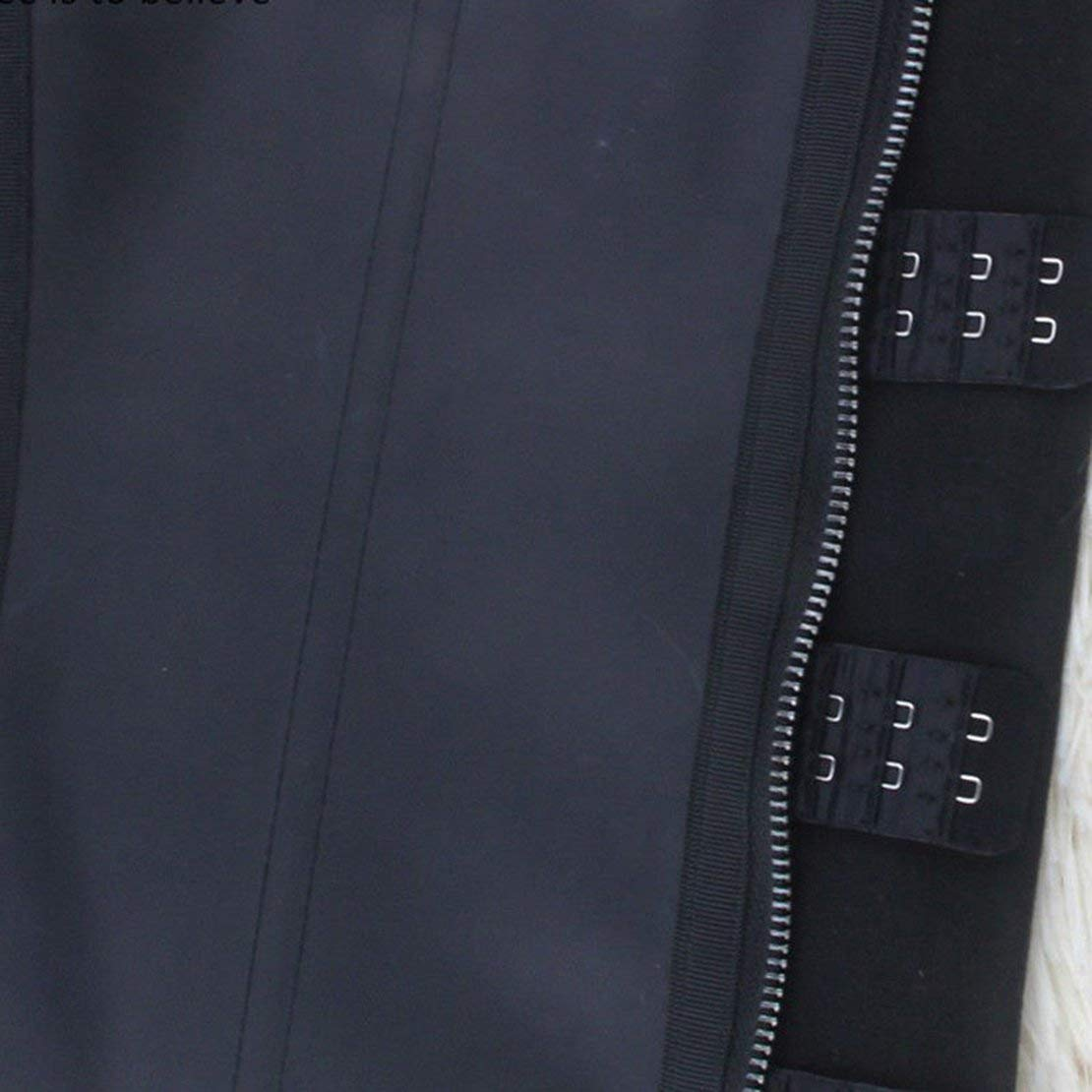 Sanzhileg Waist Trainer Belt Underwear Body Shaper Breathable Women Corsets with Zipper Hot Shapers Cincher Corset Top Slimming Belt Black 2XL