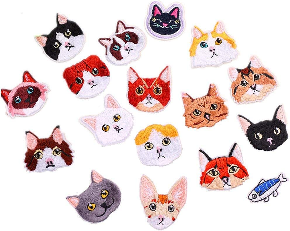 Cute Lucky Cat Patch Iron or Sew on 5x6cm Pink