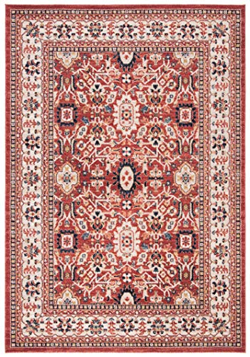 (Safavieh CHL412Q-9 Charleston Collection CHL412Q Red and Ivory (9' x 12') Area Rug,)
