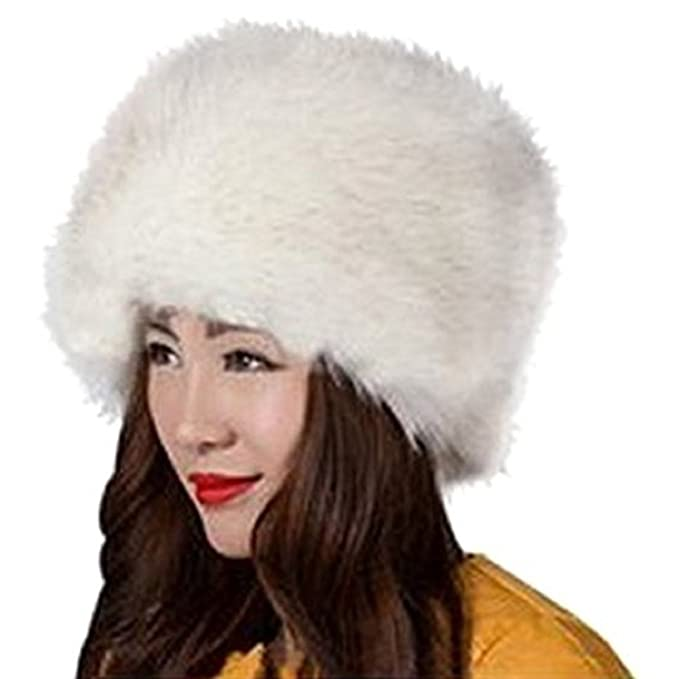 6a2f42bb4 Jiamingyang Women's Cossack Russian Style Faux Fur Hat Winter Warm ...