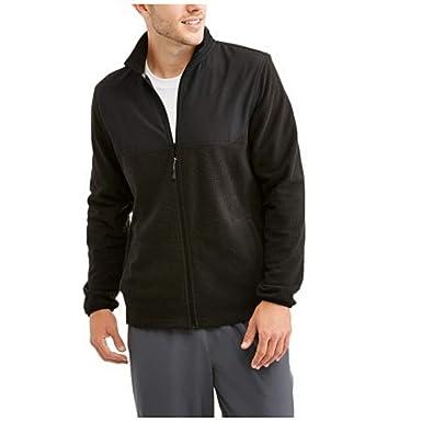 Amazon.com: Athletic Works Men's Full Zip Textured Micro-Fleece ...