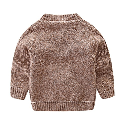 Mud Kingdom Little Boys Cute Rabbit Sweaters Pullover 3T Red by Mud Kingdom (Image #1)