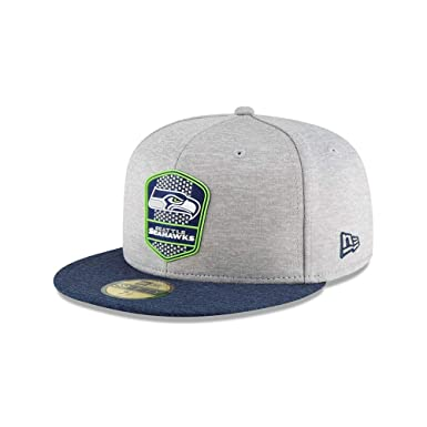 cheap for discount 458bc 92a55 New Era Seattle Seahawks NFL Sideline 18 Road on Field Cap 59fifty Fitted  OTC  Amazon.fr  Sports et Loisirs