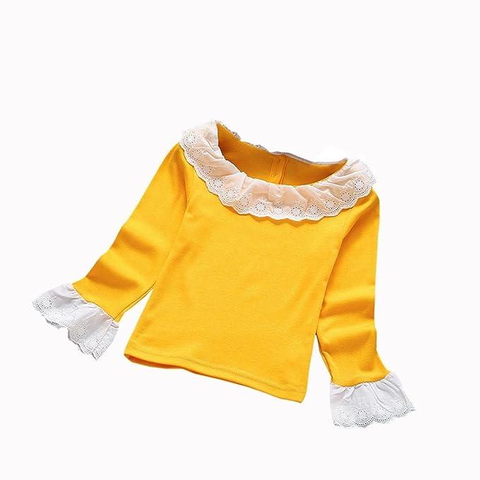 Amlaiworld Bebé Niñas Moda casual Volantes Camisetas Tapas Blusa Ropa (2-3 Años, Amarillo): Amazon.es: Bricolaje y herramientas