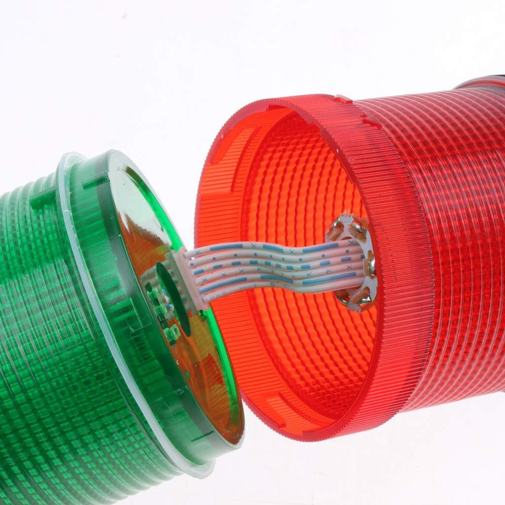 Baosity Signal Industrial Tower Warning Lamp Stack Light Alarm Apparatu Green Red