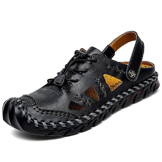 9929ee42300e Amazon.com: Men Plus Size Shoes - POHOK Men's Breathable Slippers ...