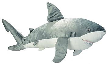 Amazon Com Wild Republic Jumbo Great White Shark Plush Giant