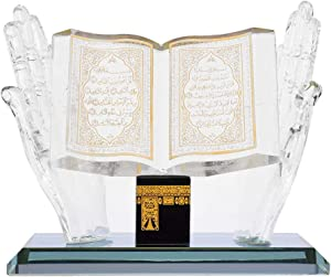 Hztyyier Muslim Crystal Collectible Figurines for Home Desktop Decor Islamic Building Handicrafts Souvenirs Car Decor