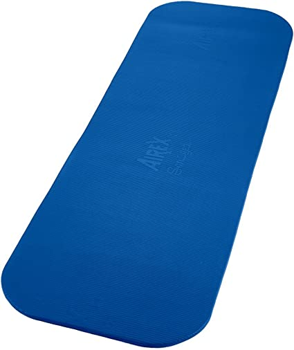 Amazon Com Airex Coronella Exercise Mat Blue 72 L X 23 W X 0 6 Thick Professional Exercise Mat Sports Outdoors