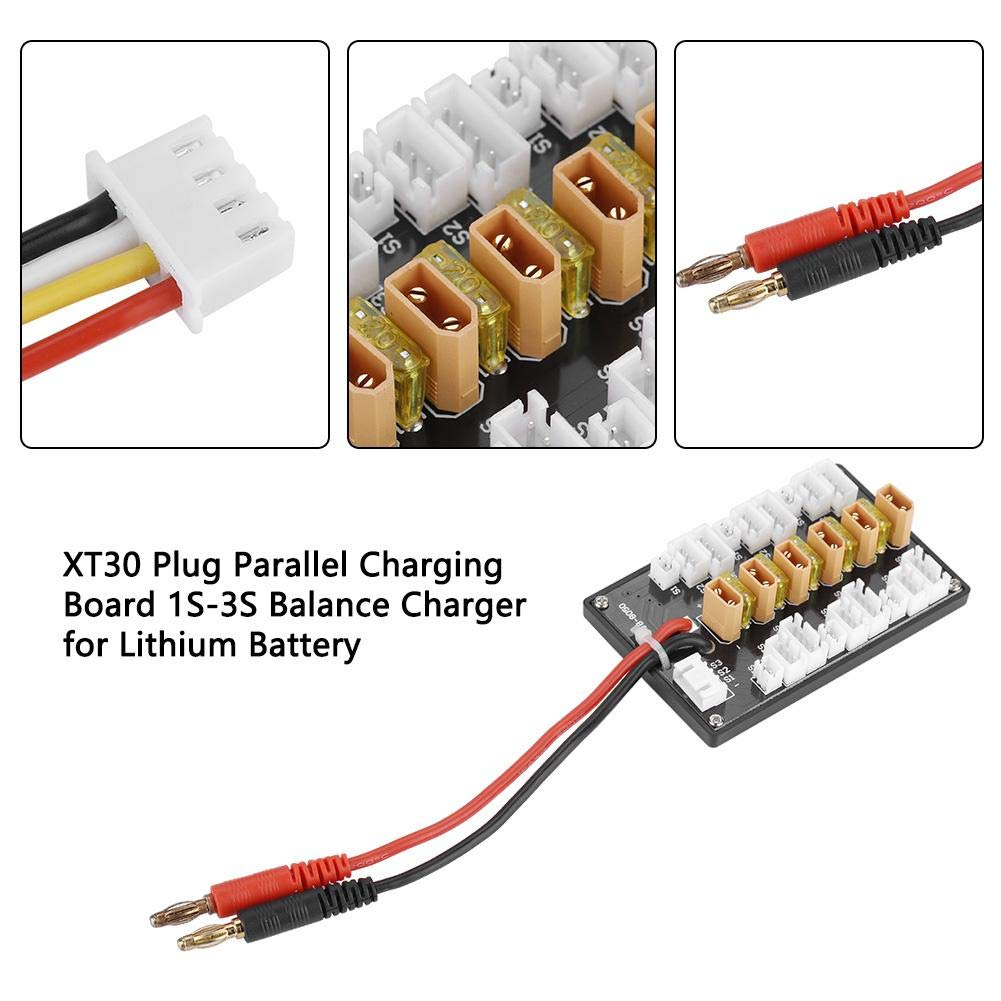 Upgrade Xt30 Plug Parallel Charging Board For 1s 2s 3s Lipo Wiring In Batteries Compatible Lithium Battery