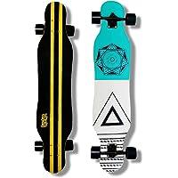 DINBIN Longboard Skateboard 41 Inch Drop Through Complete Cruiser for Dancing Cruising Freestyle