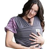 Sleepy Wrap Baby Carrier, Dark Grey Stretchy Ergo Sling from Newborns to 35lbs