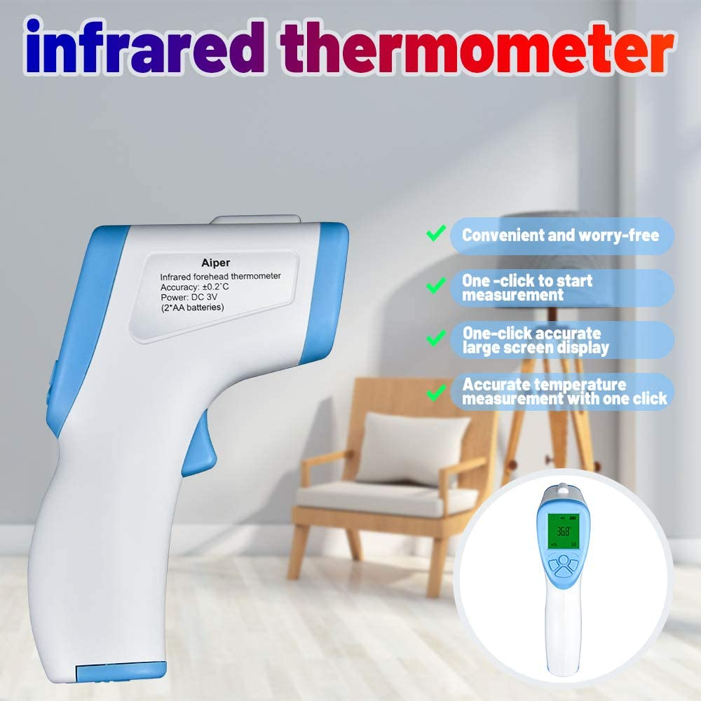 Camecho Infrared Thermometer Adult Non Contact Thermometer Accurate Instant Readings Forehead Thermometer Professional Thermometer for Baby Children Digital Thermometer