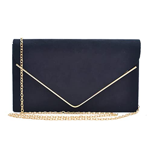 Dasein Ladies  Velvet Evening Clutch Handbag Formal Party Clutch For Women  With Chain Strap ( d3ebe486383a