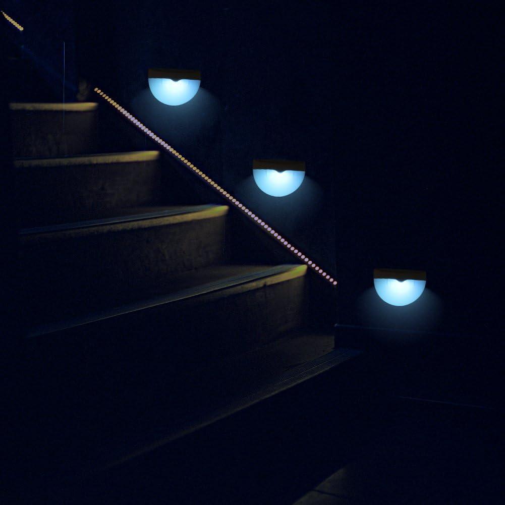 2 Pack RGB Solar Lámparas de Pared Exterior, Coquimbo de Color Estática/Cambio de Color La Energía Solar LED Luz de la Pared in Jardín, Hof, Camino, Valla de Entrada, Terraza, Balcón: Amazon.es: