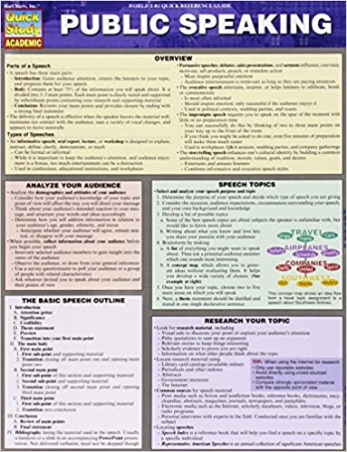 public speaking quick study academic inc barcharts