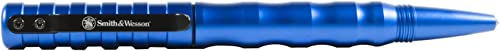 Smith Wesson SWPENMP2BL 5.8in Aircraft Aluminum Refillable Tactical Screw Cap Pen for Outdoor, Survival, Camping and EDC