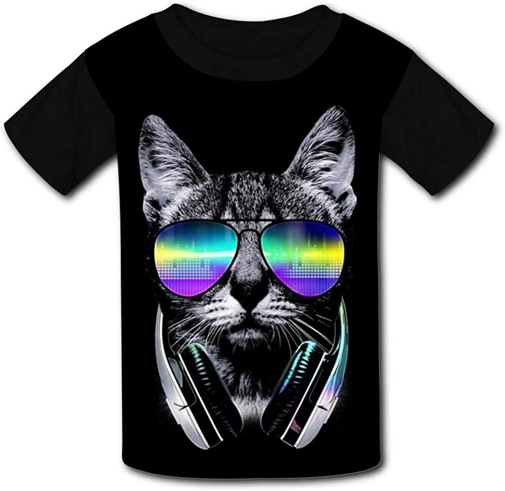 Cool Cat Childrens 3D Summer Short Sleeve Printing T-Shirts