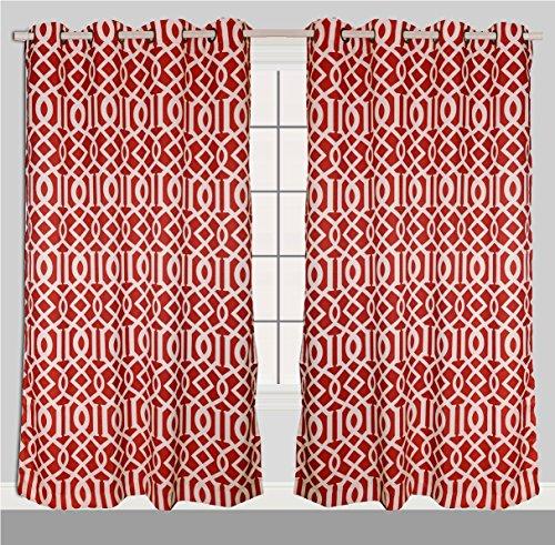 Luxurious Moroccan Trellis Grommet Curtain