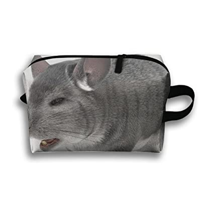 SO27Tracvel Grey Chinchilla Toiletry Bag Dopp Kit Tactical Bag Accessories Travel Case