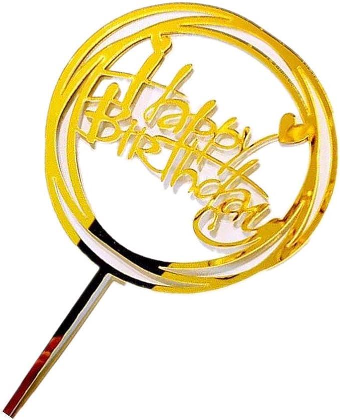 Windy5 Acrylique Baby Shower de f/ête danniversaire de g/âteau Ronde Amour de Petit g/âteau Dessert Joyeux Anniversaire D/écoration