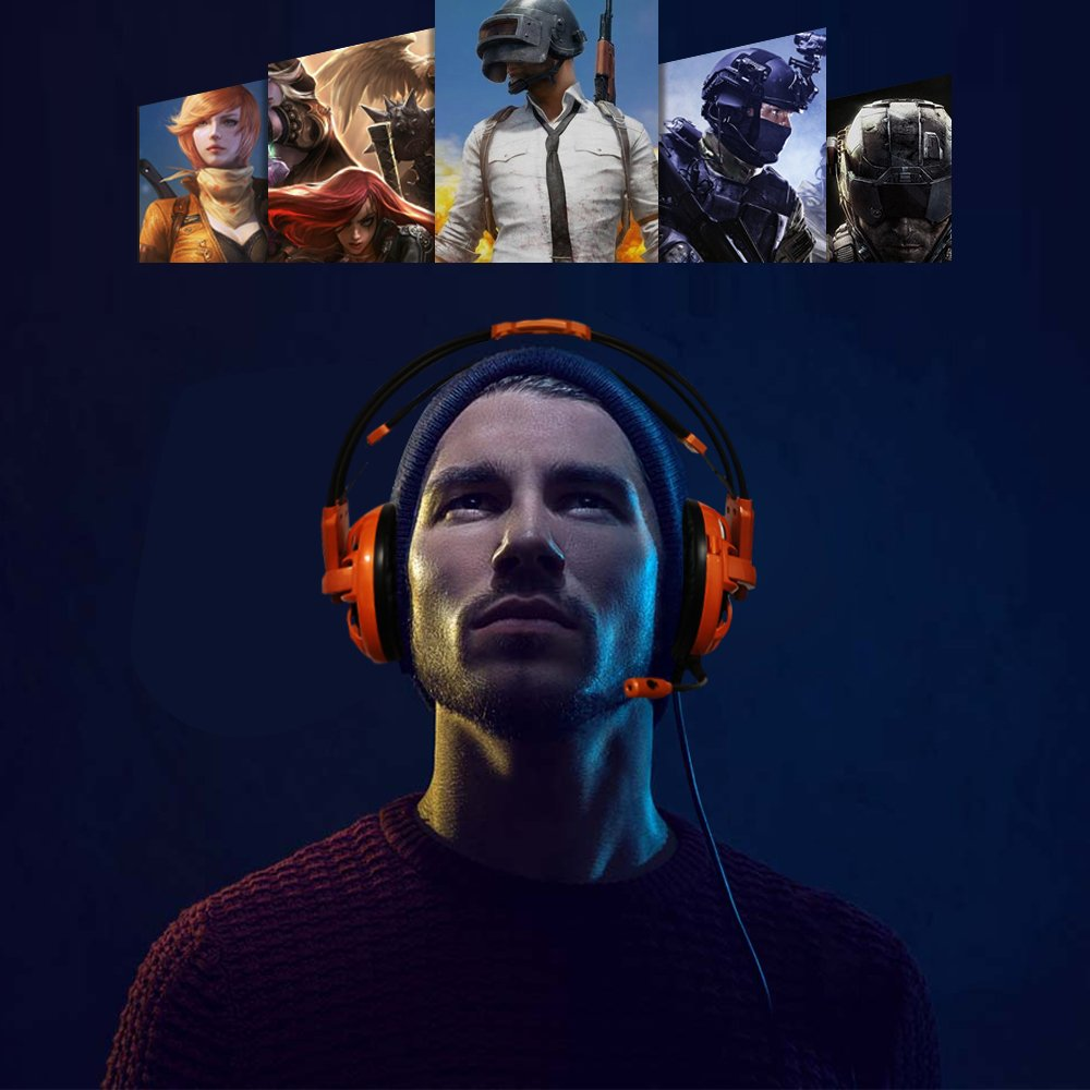 iNcool Stereo Gaming Headset, Noise Cancelling Mic Over Ears Gaming Headphones with Microphone by iNcool (Image #5)