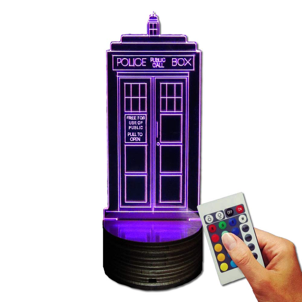 Doctor Who Decorative Lamp Police Box (3D-Hologram Illusion) [Energy Class B] Stuff4Players